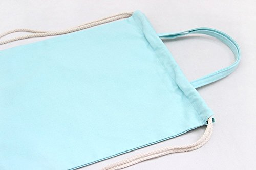 Incendemme Sac a Dos - Cordon a Serrage - Sac a Main Couleur Pure Simple Sac en Canevas Casual Retro Solide (Blanc) Bleu