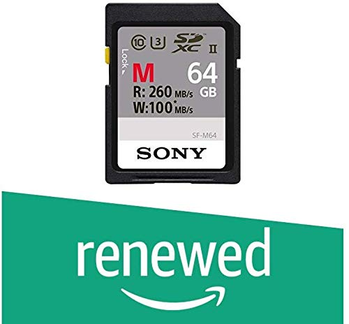 (Renewed) Sony 64GB UHS-II Class 10 SD Memory Card (SF-M64/T)