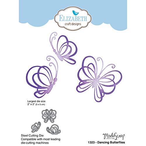 Elizabeth Craft Designs Dancing Butterflies die, grigio - 2