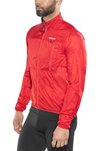 Preisvergleich Produktbild Shimano Hybrid Windbreaker Jacket Men Red Größe XXL 2018 Wasserdichte Jacke