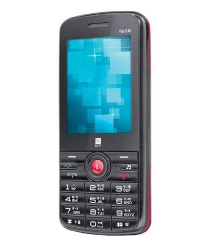 iBall Fab 2.4u Black + Red Mobile Phone