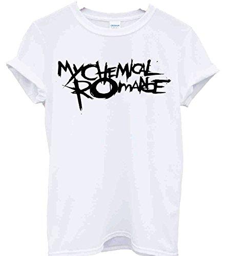 T-Shirt, Fan-Shirt der Band My Chemical Romance, MCR, Musik, Band, Rock, Punk, Konzert Gr. Small, weiß - Band-konzert-tour-t-shirt