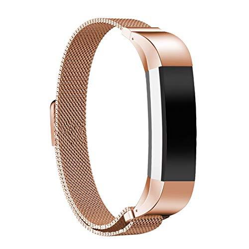 Takkar Magnet Armband für Fitbit Alta HR/Fitbit Alta~weich und absolut angenehm zu tragen~ Edelstahl Smart Uhrenarmband Ersatzzubehör Metallband Band Straps für Fitbit Alta und Fitbit Alta HR