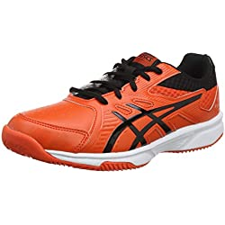 Asics Court Slide Clay GS, Zapatillas de Tenis Unisex Niños, Rojo (Cherry Tomato/Black 808), 38 EU
