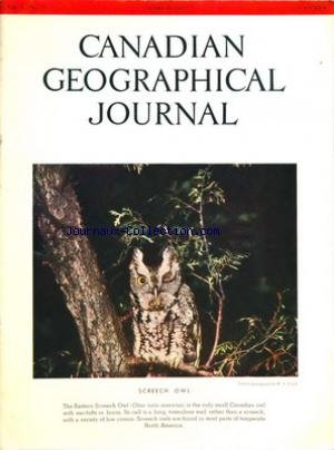 CANADIAN GEOGRAPHICAL JOURNAL [No 3] du 01/03/1955