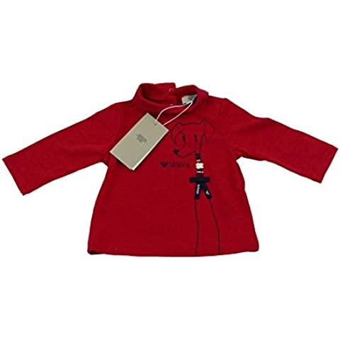 Armani bebé niñas rojo camiseta/top polo 100% auténtico lujo sz 3m/cm