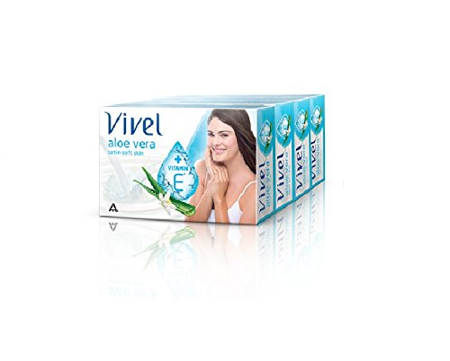 Vivel Aloe Vera Soap, 100g (Pack of 4)