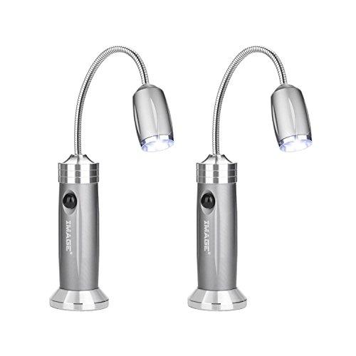 IMAGE 2 Pack Grill Licht, Magnetische BBQ Licht Flexibel Grilllampe 360°Verstellbare Beleuchtung Zoom Outdoor Grill Lichter BBQ Zubehör Werkzeuge Set -Weißes Licht