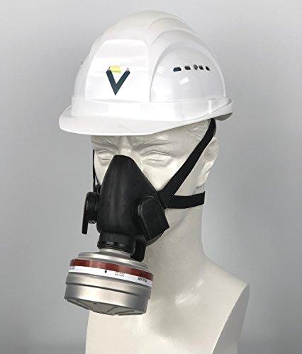 BartelsRieger Profi Atemschutzmaske + Filter/Set zum Lackieren, Streichen & Gartenarbeit/Premium Maske + A2P3 Filter