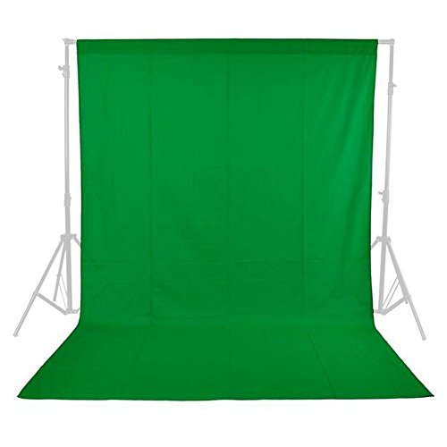Phot-R P-NW3X3GN 3 x 3 m Photo Studio Non-Woven Fotostudio Maschine waschbar Hintergrund-Hintergrund Chroma Key Screen Fotografie Video grün -