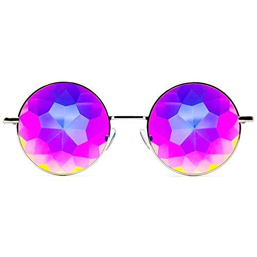 GloFX Vorstellen Kaleidoskop Brille - Metallrahmen - Regenbogen Beugung Rave EDM Festival