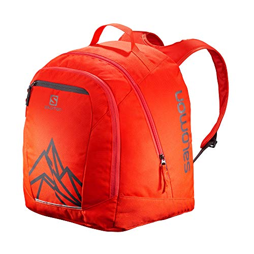 Salomon Original Gear Backpack, Zaino da Sci, LC1171300 Unisex Adulto, Rosso (Cherry Tomato)/Grigio Scuro (Ebony), Taglia Unica