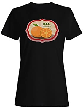 Organic Food 100% Natural Chef Green Vegan camiseta de las mujeres c867f