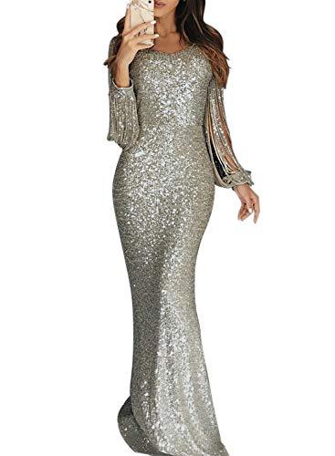 ᑕ❶ᑐ Kleid Silber Damen Kleider
