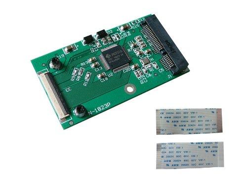 Kalea Informatique Adapter, mSATA auf ZIF 40, für SSD Mini-PCIe Typ mSATA 30gb Portable Video