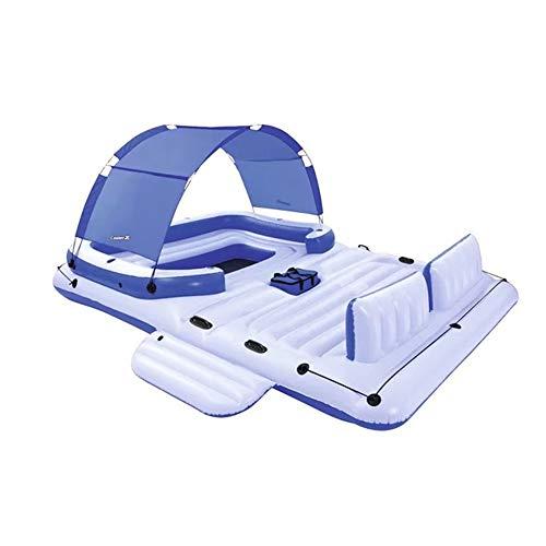 WENMIN 6-8 Personen Schwimmendes Schlauchboot Schwimmende Reihe Für Erwachsene Sommerruhe Wasserspielzeug Und Wasserpumpen