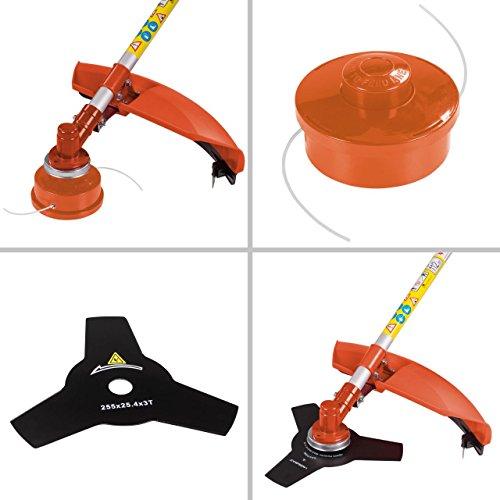 Motorsense Freischneider Rasentrimmer Rasenmäher 3 PS und 52cm³ Orange - 5