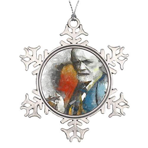 Monsety Sigmund Big Freud Weihnachtsdeko Schneeflocke Ornamente 2018 Weihnachtsbaum Hängegeschenk - Freud Türen