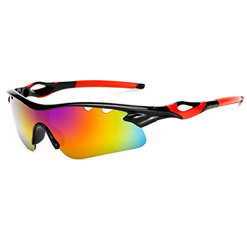 Omufipw Polarisierte Sport-Sonnenbrille für Männer Frauen Radfahren Laufen Fahren Angeln Golf Baseball Brille