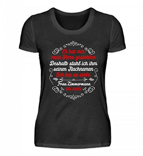 Shirtee Signore Di Alta Qualità, Nomi Organici Rubati-personalizzabili Neri