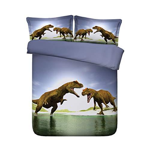 G'z Kinder Jungen Schlafzimmer Dekoration Bett Set Dinosaurier Bettwäsche Bettbezug Set 3 stücke Tagesdecke Tagesdecke Mit 2 Kissen Shams Keine Tröster (Farbe : Ocean Bedding, größe : Cal King) (Ocean Tröster Set Königin)