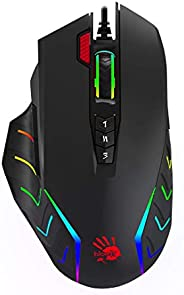 Bloody J952-Fire RGB Animation Gaming Mouse - Black (Pack of1)