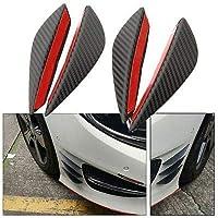 Vetra Carbon Auto Front Bumper Protector Lip Splitter Styling 4Pcs Air Knife for Honda Civic