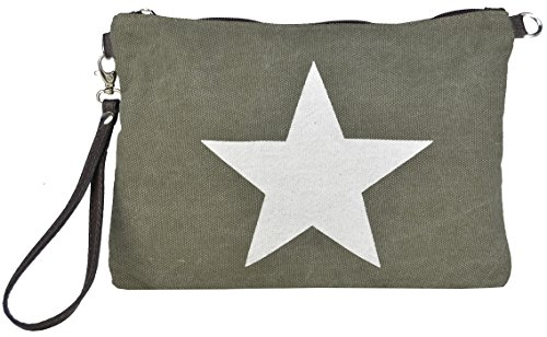Bags4Less Borsa Messenger, Marrone (Grigio) - Canvas_1 verde