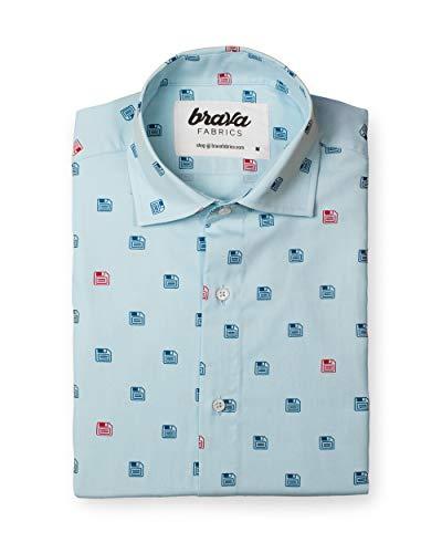 Brava Fabrics | Camisa Hombre Manga Larga Estampada