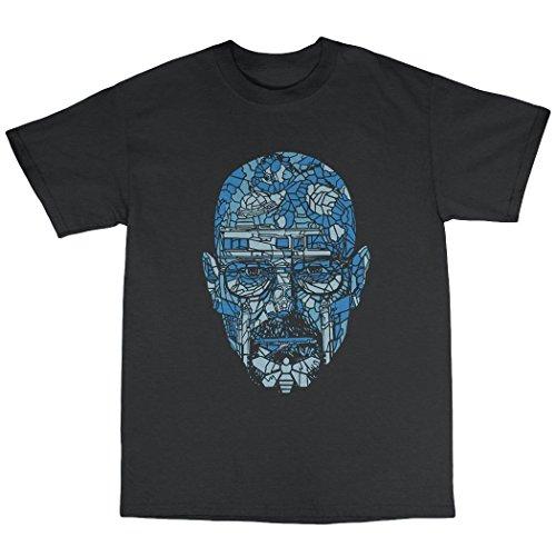 Walter White Blue Meth T-Shirt 100% Baumwolle Schwarz