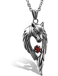 pendentif tete de loup