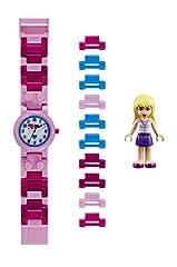 Idea Regalo - LEGO Friends 8020172 Orologio da polso componibile per bambini con cinturino a maglie e minifigure Stephanie