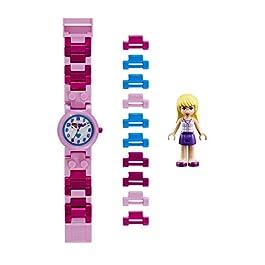 77e3f6404b LEGO Friends 8020172 Orologio da polso componibile per bambini con  cinturino a maglie e minifigure Stephanie ...