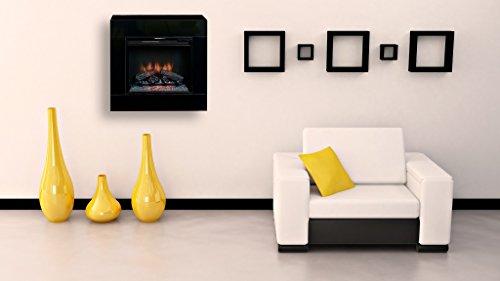 Classic Flame Moderner Wandkamin zum stellen oder hängen Modell Simo schwarz