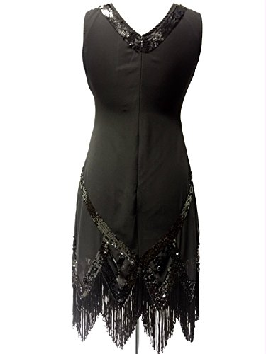 Damen 1920 \'s Vintage Stil Charleston Flapper Gatsby Abbey Fransen ...