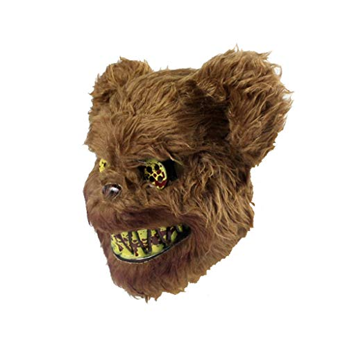 Kopf Maske Kostüm Bear - Barlingrock Neue Halloween Cosplay Scary Bear Maske für Erwachsene Party Dekoration Requisiten Gruselig (Größe: 30x25 cm)