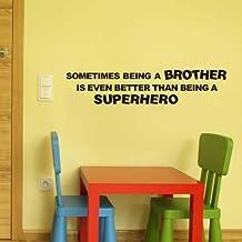 Ser Un Brother incluso mejor que es ser un Superhero Pegatina Cita Pared Letras de vinilo Inspirational Niños Habitación Wall Art Decor
