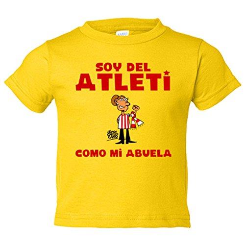 Camiseta niño Atlético de Madrid soy del atleti como mi abuela - Amarillo, 7-8 años