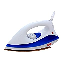 Hi-Choice 750 watt Dry Iron Non Stick Soleplate and Auto Switch Off Function (White-Blue)