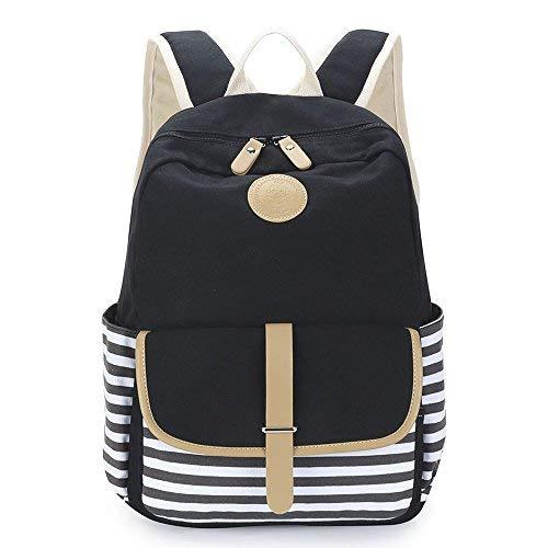 Sac d'ordinateur portable amélioré de sac à dos d'école de toile de Causal d'Imyth pour l'adolescent