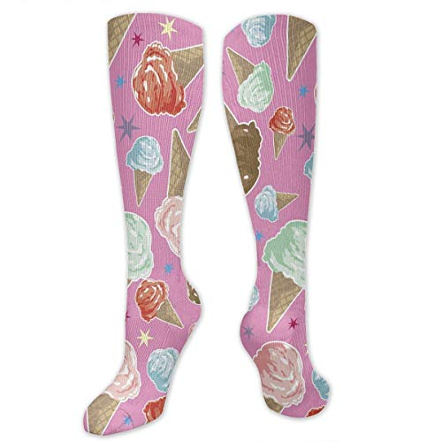 ocken Delicious Ice Cream Compression Socks,Knee High Socks,Funny Socks for Women Men - Best Medical,Sports,Running, Nurses,Maternity,Pregnancy,Travel & Flight Socks ()