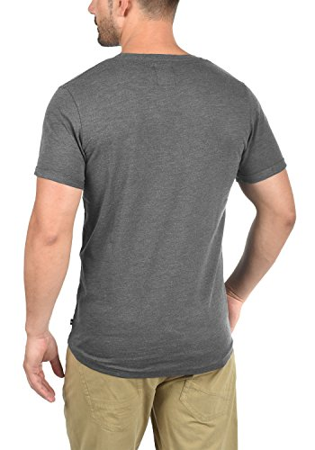 PRODUKT Tomás Herren T-Shirt Kurzarm Shirt Rundhalsausschnitt aus 100% Baumwolle Black Melange