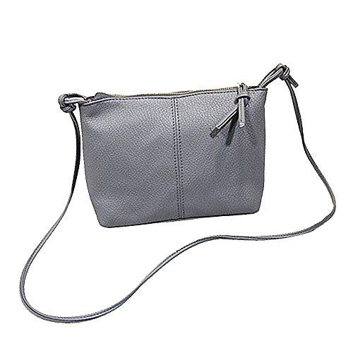 Gosear Frauen Damen PU Leder Mode Schulter Tasche Messenger Crossbody Tasche für Täglich Verwenden Dating Partei Grau