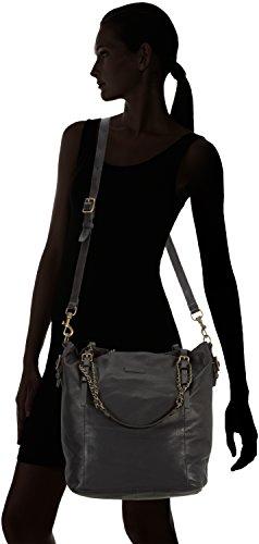 Liebeskind Berlin Manou Vintage, Sacs portés épaule Femme Noir (black 0001)