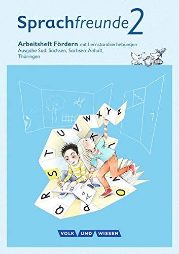 Sprachfreunde - Ausgabe Süd (Sachsen, Sachsen-Anhalt, Thüringen) - Neubearbeitung 2015: 2. Schuljahr - Arbeitsheft Fördern