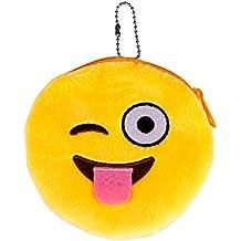 Emoji Emoticono Mini bolsa Sannysis Monedero del bolso de la caja, 10*10cm (C)