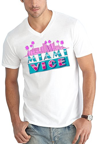 Certified Freak Miami Vice Skyline V-Neck White XL