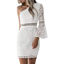 beautyjourney Robe Moulante Sexy, Robe Pull Femme Sexy Dos Ouvert,Jupe  Longue Femme Blanche 07860d2a5451