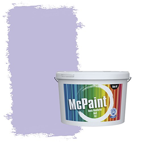 McPaint Bunte Wandfarbe Orchidee - 10 Liter - Weitere Violette Farbtöne Erhältlich - Weitere Größen Verfügbar