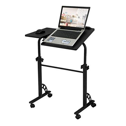 COSTWAY verstellbar Laptop Notebook Schreibtisch Stand Portable Computer Tisch Sofa Bett Tablett neigbar - Bett-tisch Tilt